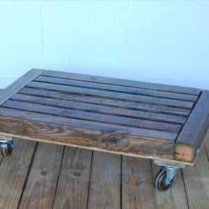 reclaimed pallet low coffee table with wheels