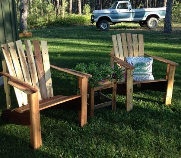 reclaimed pallet adirondack chairs