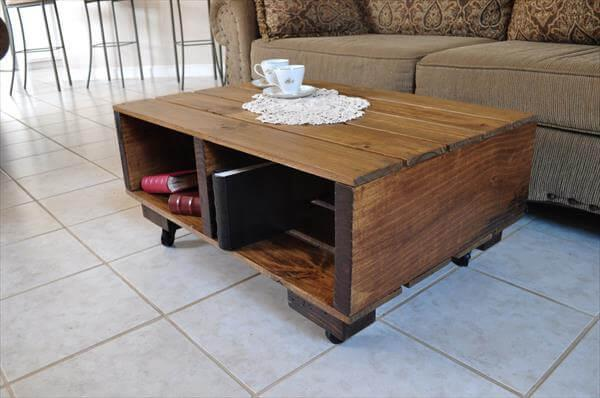 upcycled pallet and barn wood coffee table