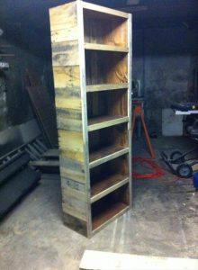 Bookshelf Made From Reclaimed Pallets