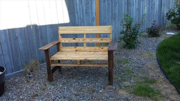 upcycled pallet chair with planter