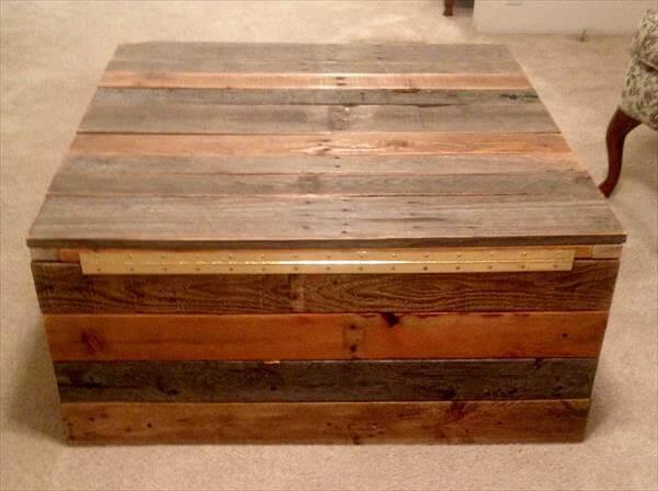 rustic yet functional pallet coffee table