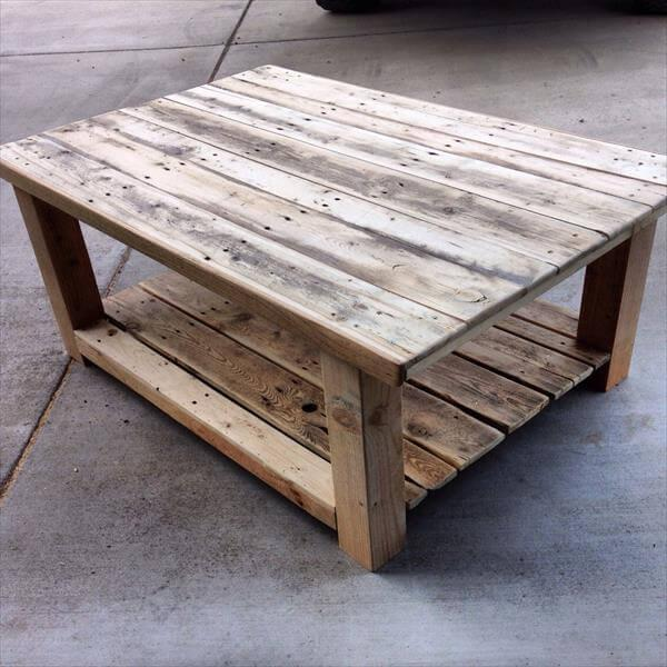 highly rustic pallet coffee table