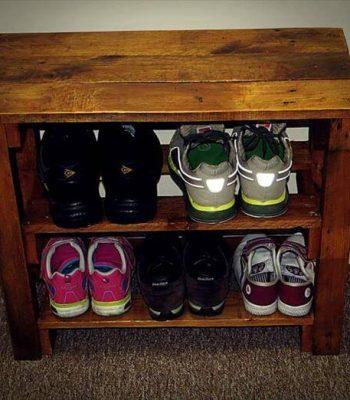 diy pallet shoes rack
