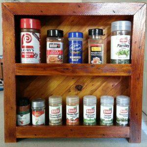 repurposed pallet spice rack