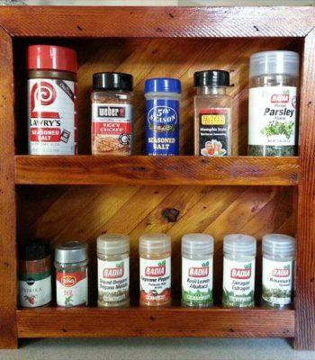repurposed pallet spice rack