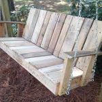 reclaimed pallet outdoor swing