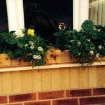 reclaimed pallet rustic pallet window planter