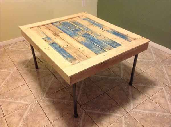 handcrafted pallet squared coffee table