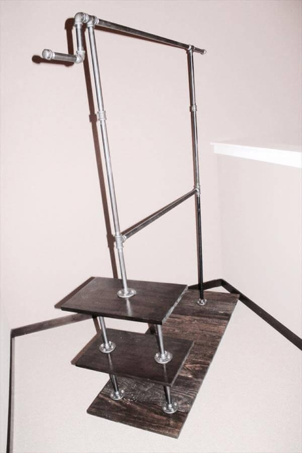 industrial pallet metal clothing rack