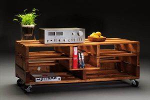 DIY Pallet TV Stand + Media Cabinet