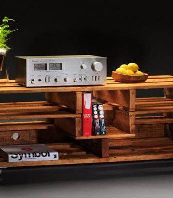 recycled pallet TV stand and media console table