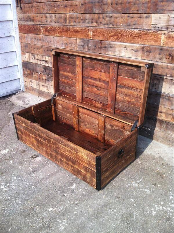 Diy Pallet Wood Chest And Coffee Table 101 Pallets