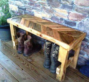 DIY Pallet Chevron Bench —- Built to Amaze!!
