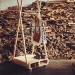 recycled pallet coat rack and shoes rack