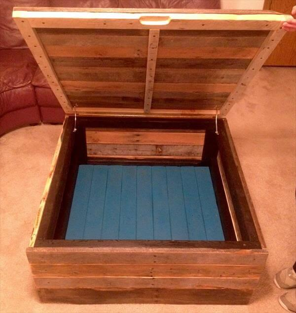 recycled pallet coffee table and chest