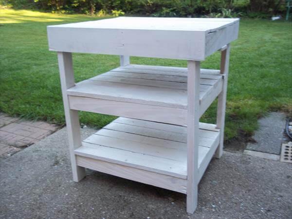 Diy Pallet Garden Workbench Bbq Table 101 Pallets