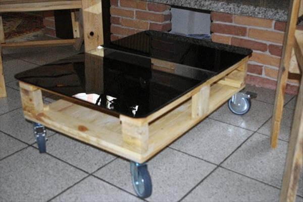 upcycled pallet opaline glass top coffee table