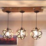 reclaimed pallet light fixture