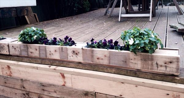 upcycled pallet window planter