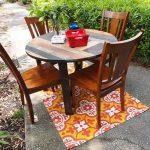 handmade pallet round dining table