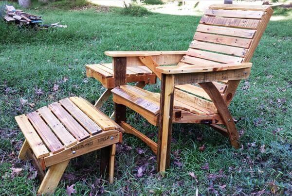 diy pallet adirondack furniture set