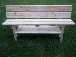 DIY Wood Pallet Park Bench