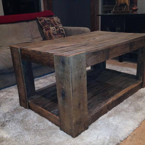diy pallet recycling pallet coffee table