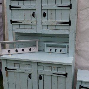 repurposed pallet kitchen dresser
