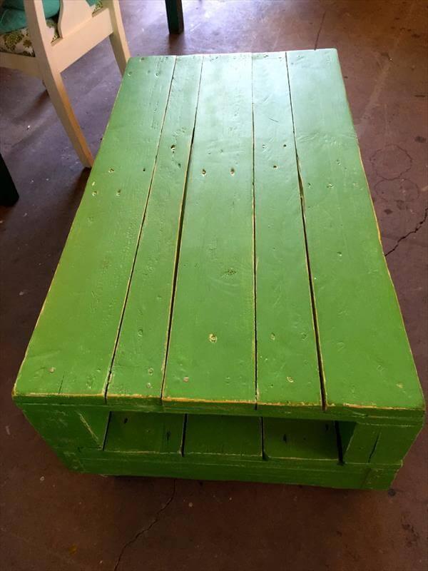 diy pallet refurbished coffee table