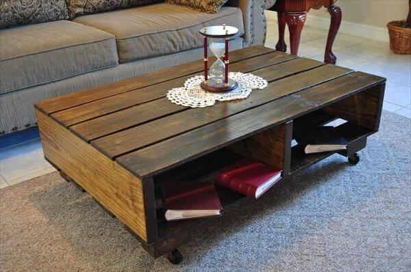 recycled pallet and barn wood coffee table