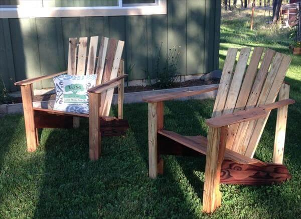 repurposed pallet adirondack chairs