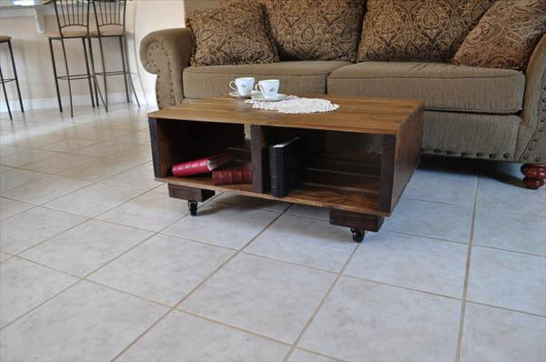 upcycled pallet and barnwood coffee table