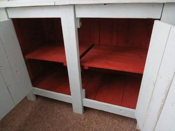 diy pallet kitchen dresser