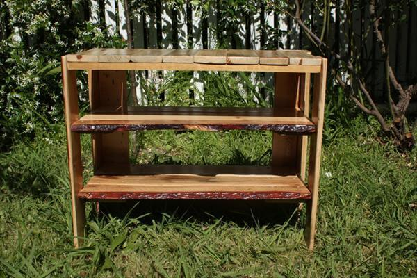 recycled pallet wood shoes rack