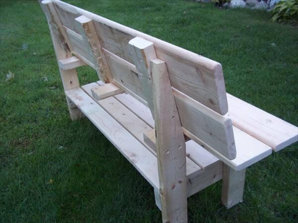 handcrafted pallet park bench