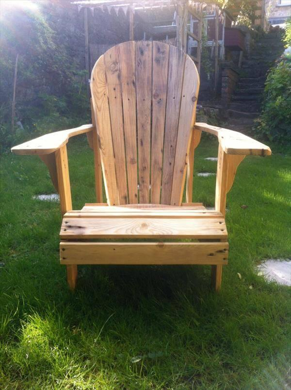 handcrafted pallet adirondack chair