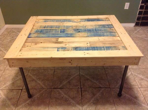 reclaimed squared pallet coffee table
