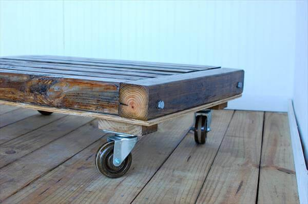 upcycled pallet low coffee table