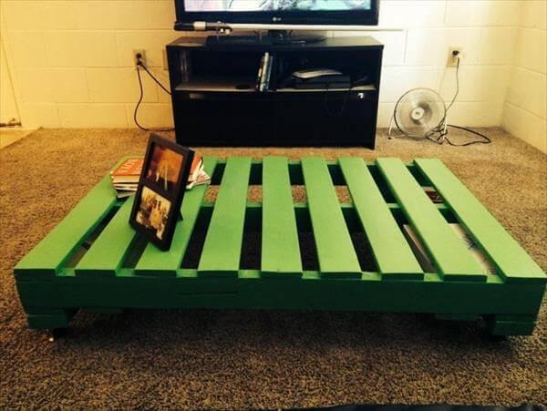 handmade pallet coffee table