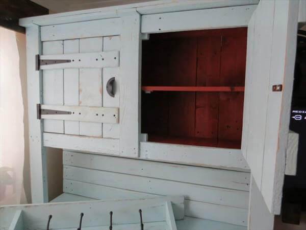 upcycled pallet kitchen dresser