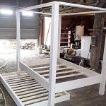 recycled pallet twin pallet canopy bed