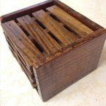 hand polished pallet coasters