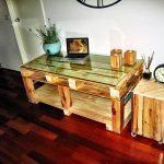 recycled pallet TV unit