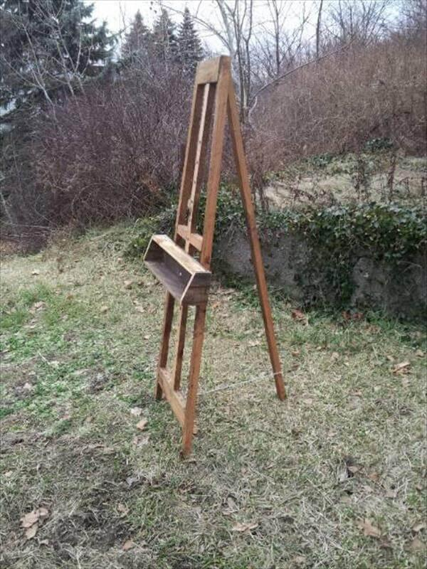 reclaimed pallet painters Easel