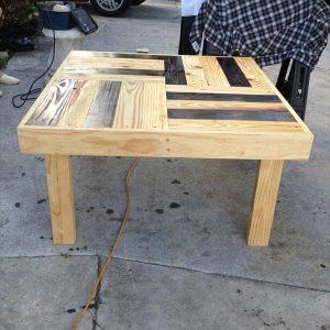 recycled pallet dual toned pallet accent table