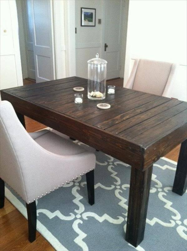 repurposed pallet dining table