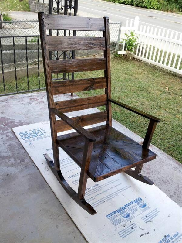 recycled pallet rocking chair