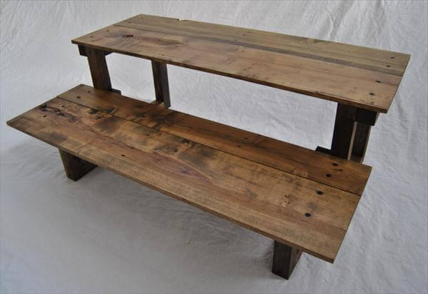 recycled pallet standing computer desk