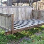 repurposed pallet bed swing